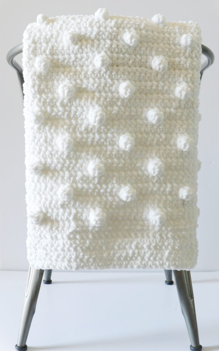 Beginner Polka Dot Crochet Blanket