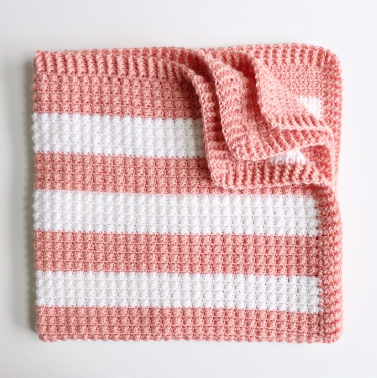 Crochet Fruity Stripes Baby Blanket