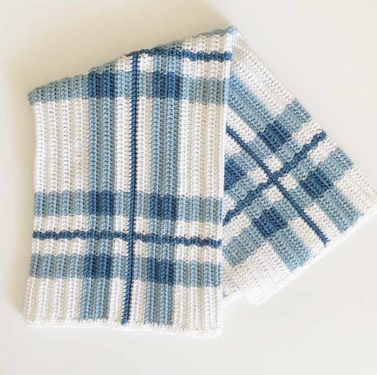 Blue Plaid Baby Blanket