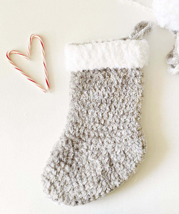 Crochet Velvet Plus Christmas Stocking